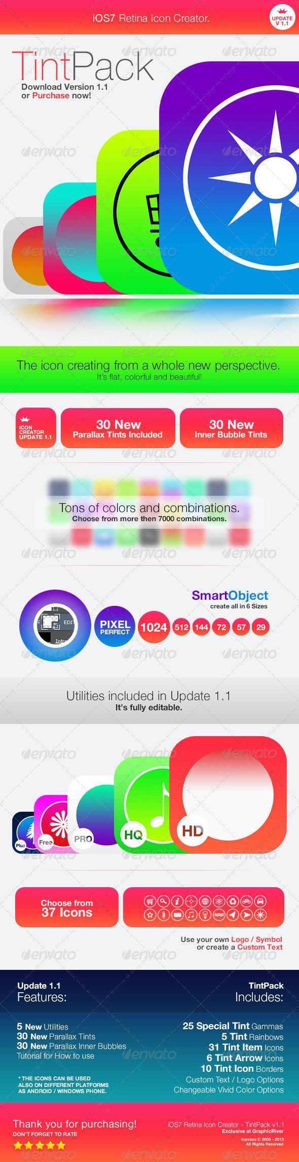 Retina Icon Creator - TintPack - Software Icons