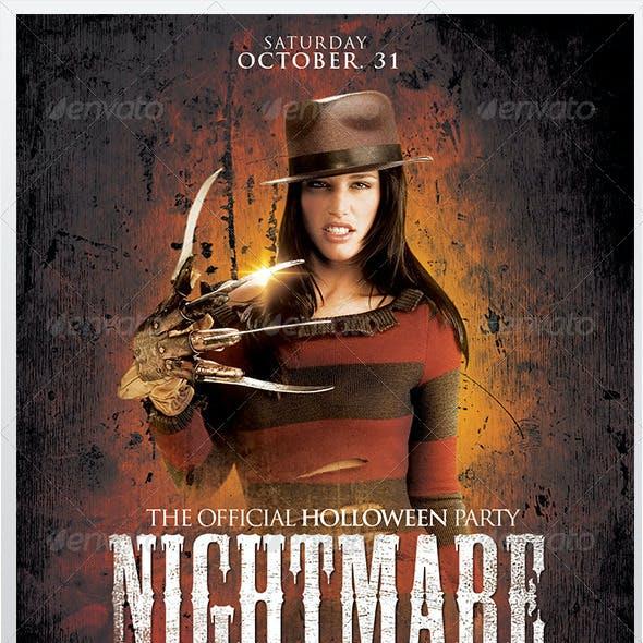Nightmare on the Street Halloween Flyer