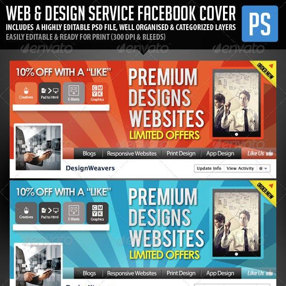 Web Design Service Facebook Cover Image