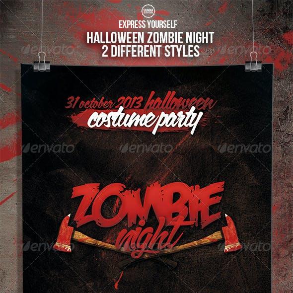 Halloween Zombie Night Flyer/Poster