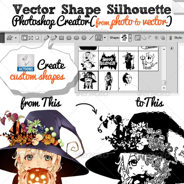Vector Shapes and Silhouettes Photoshop Creator