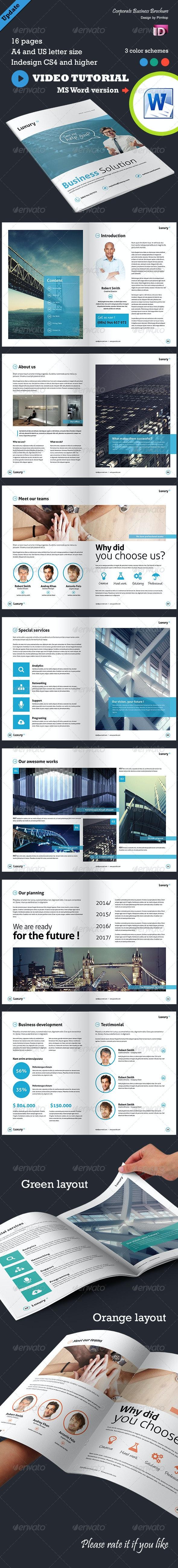 Corporate Business Brochure - Luxury - Corporate Brochures