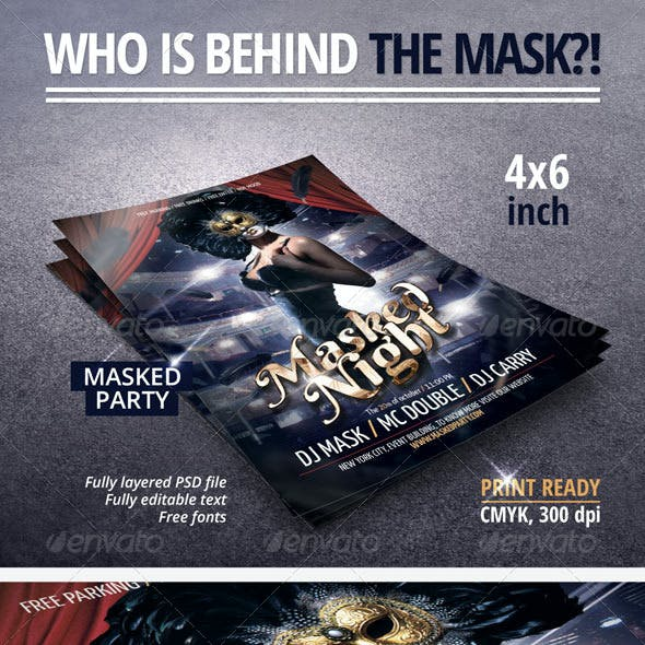 Masked Night Party Flyer