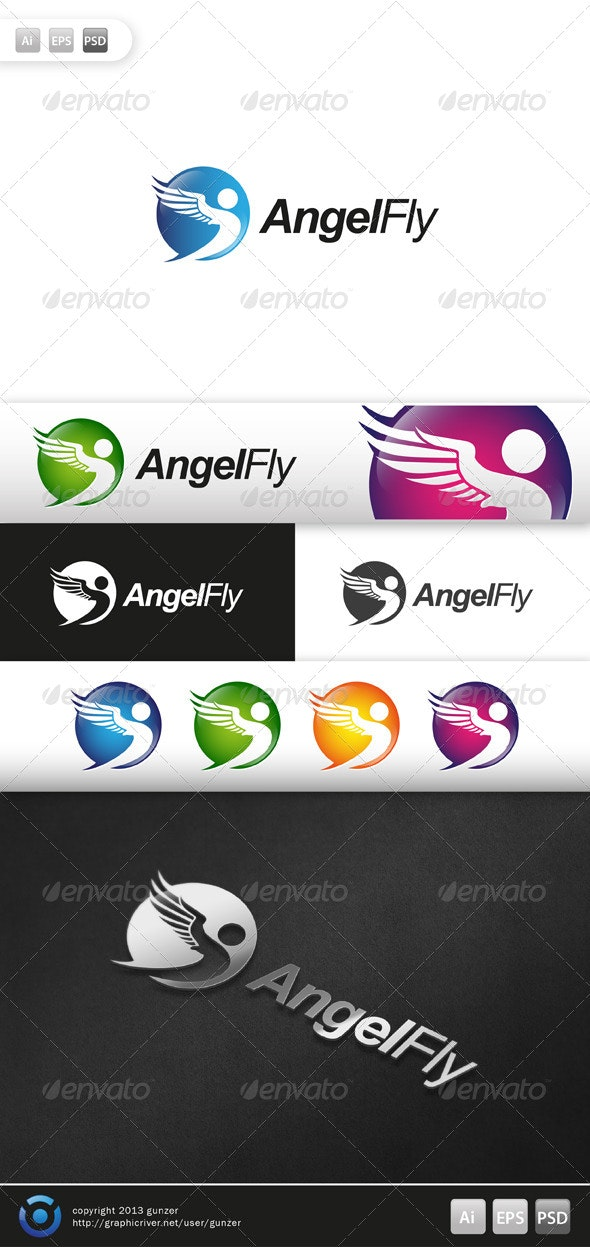 Angel Fly Logo - Logo Templates