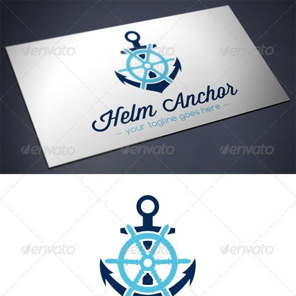 Helm Anchor Logo Template