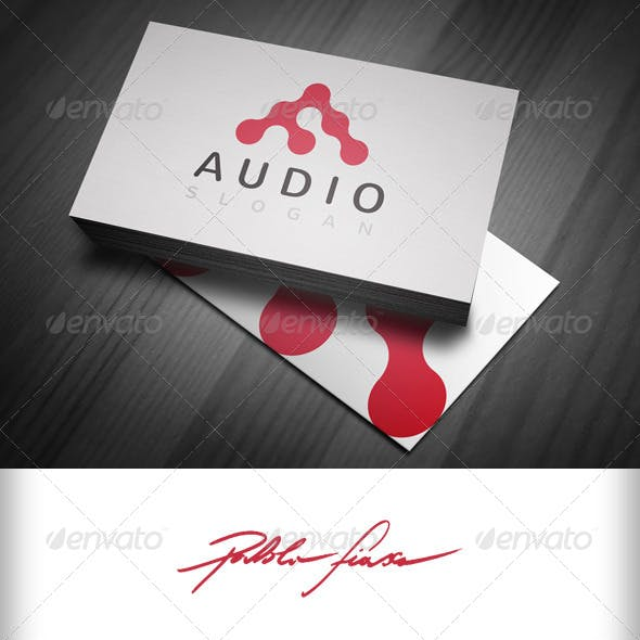 Audio Logo - Abstract Letter A Logo - Alpha Logo