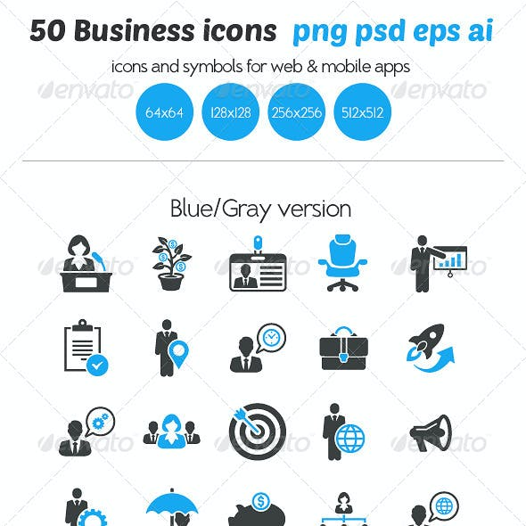 50 Business Icons