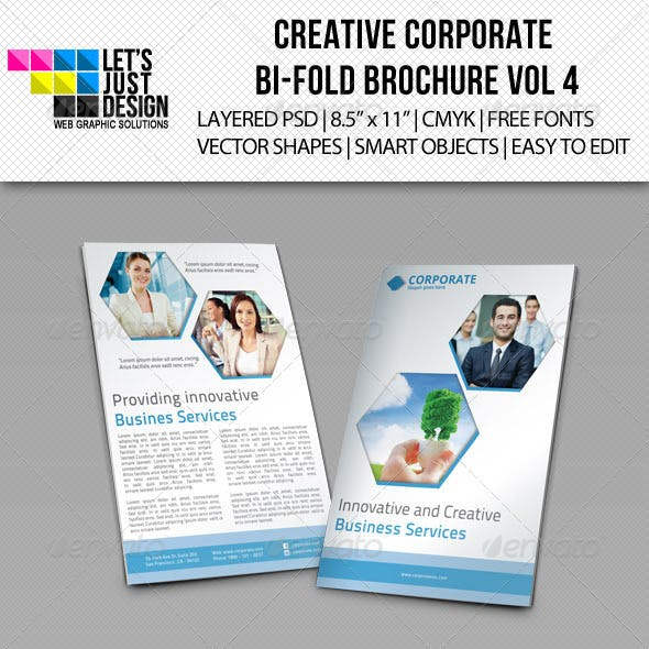 Creative Corporate Bi-Fold Brochure Vol 4
