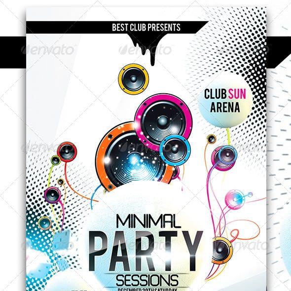 Minimal Party Flyer Vol.2