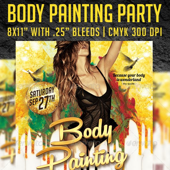 Body Painting Party Flyer