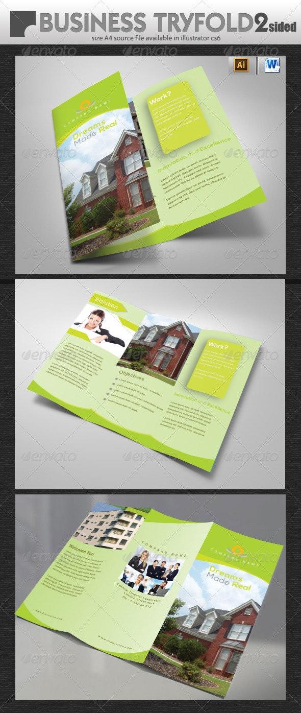 Real Estate Tri-Fold Brochure Design  - Brochures Print Templates