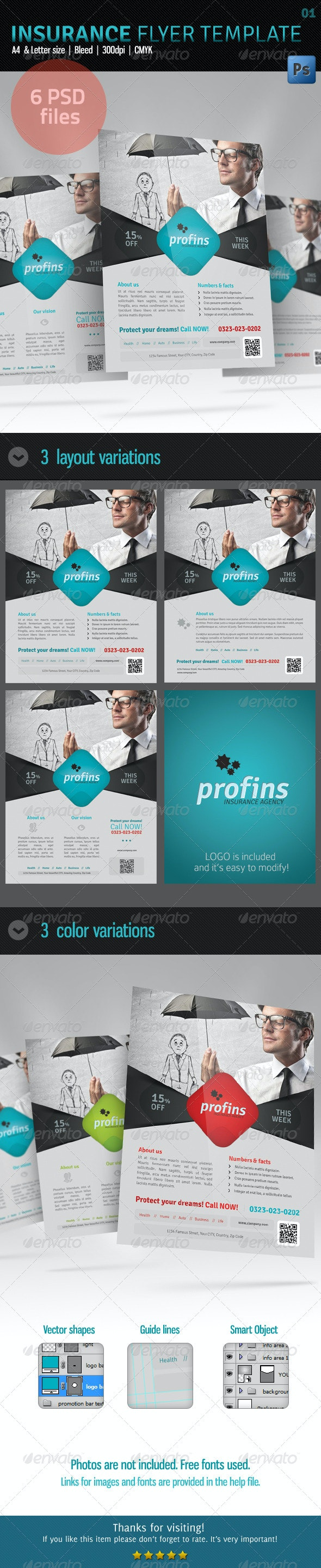 Insurance Flyer Template 01 - Corporate Flyers