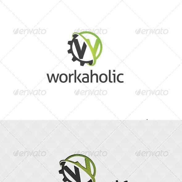 Workaholic Logo Template