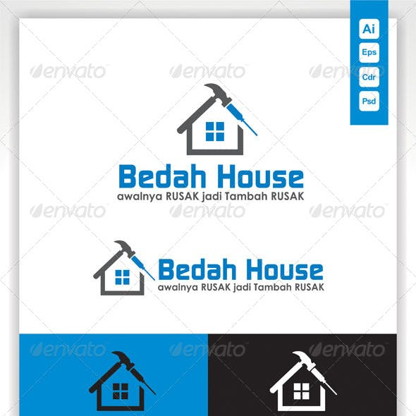 Home Repair Logo Template Bedah House