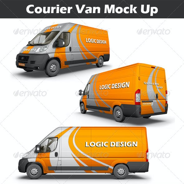 Courier Van Mock Up