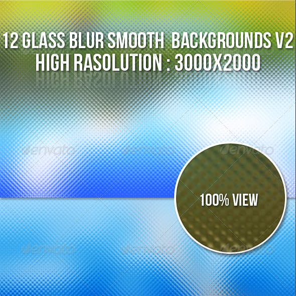 12 Glass Blur Backgrounds V2