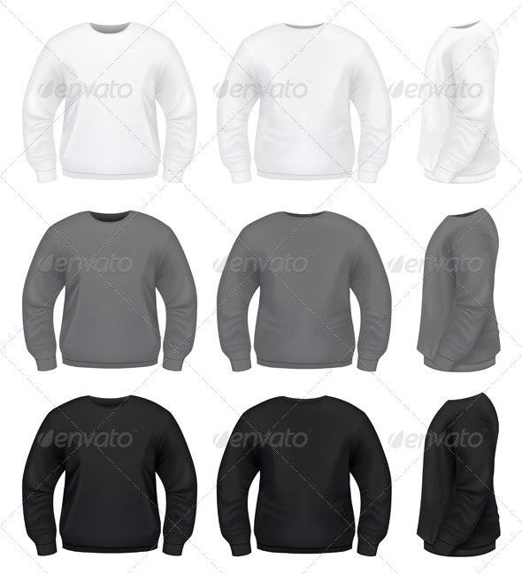 Realistic Men's Sweater  - Miscellaneous Vectors