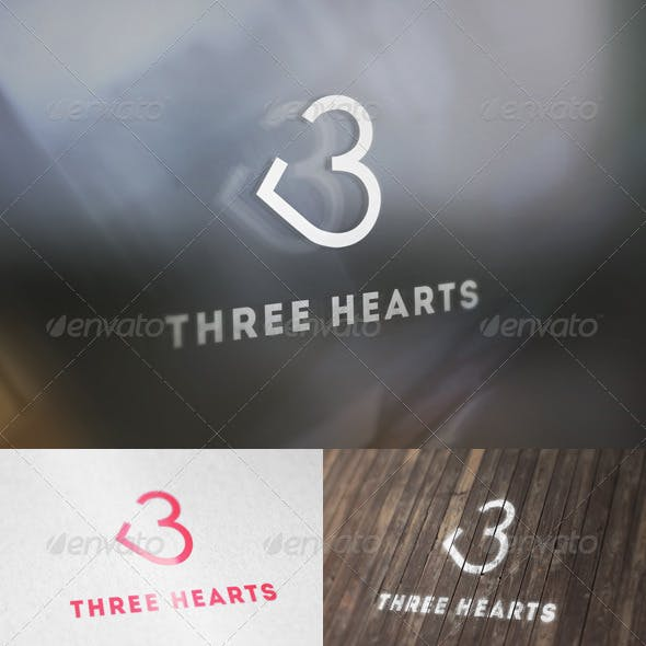 Three Hearts Logo