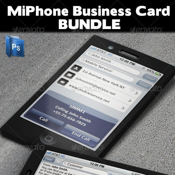MiPhone Business Card Bundle