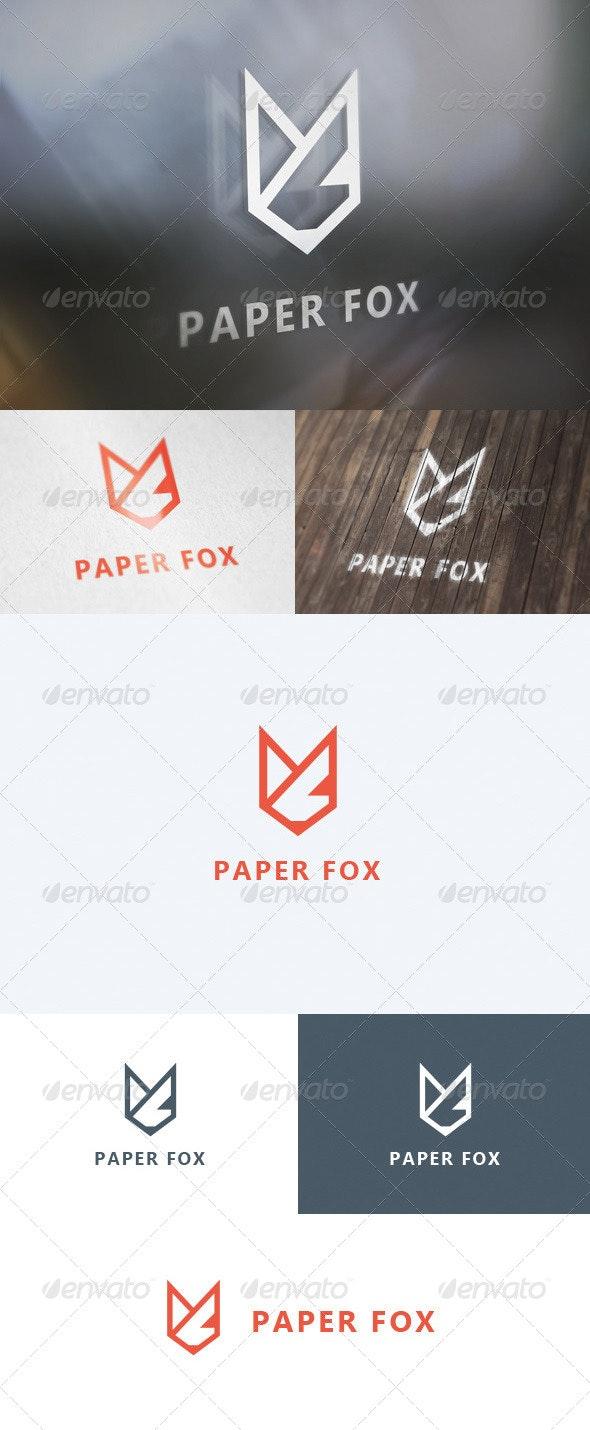 Paper Fox Logo - Animals Logo Templates