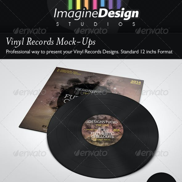 Vinyl Records Mock-ups