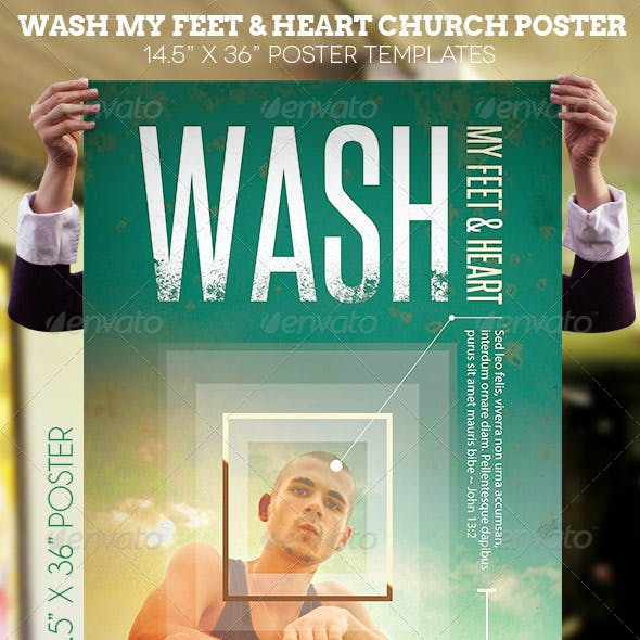 Wash Church Poster Template