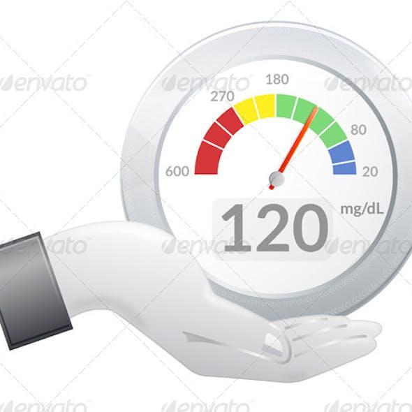 Glucose Meter Share - Illustration