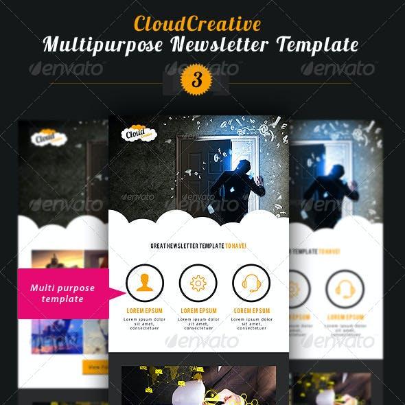 Cloud Creative Multipurpose E-newsletter Template