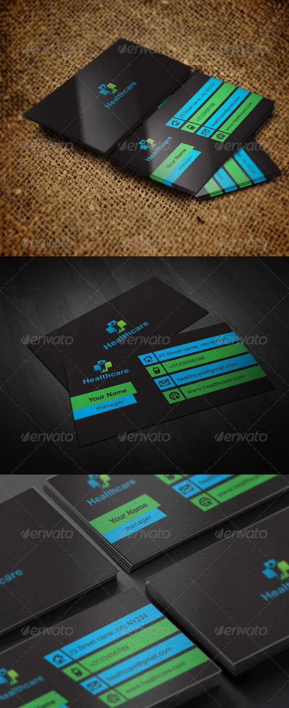 Healthcare Card - Business Cards Print Templates
