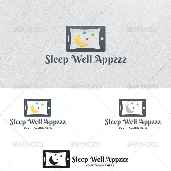 Sleep Well Apps - Logo Template