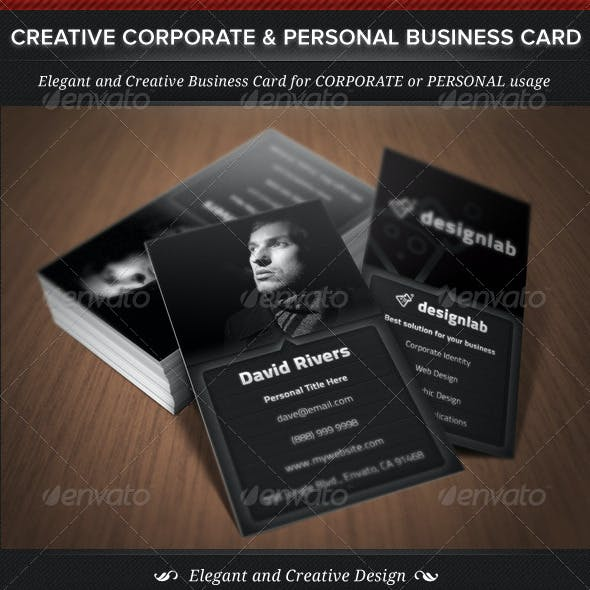 Creative Corporate & Personal Business Card