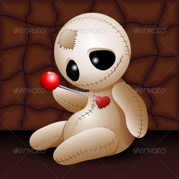 Voodoo Doll Cartoon in Love