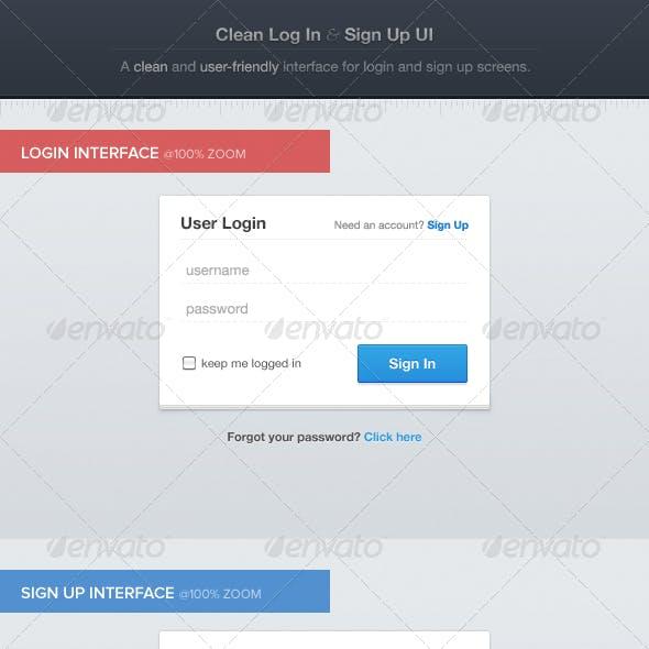 Clean Login & Sign Up UI