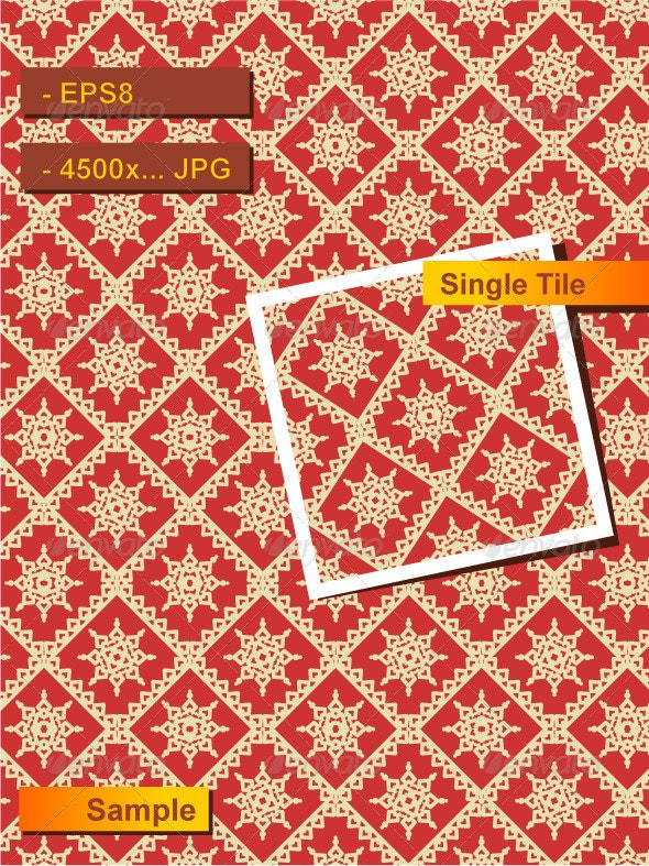 Red and Gold Holiday Seamless Pattern - Patterns Decorative