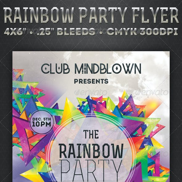 Rainbow Party - Flyer