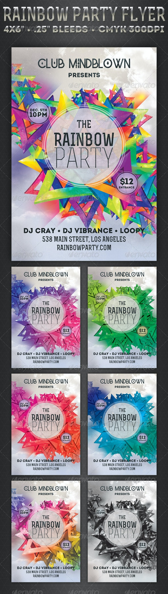 Rainbow Party - Flyer - Events Flyers