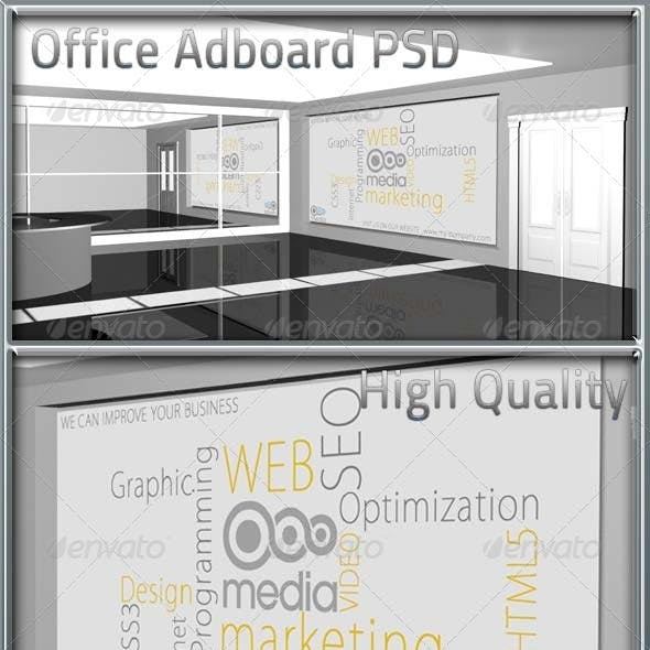 Office Adboard PSD