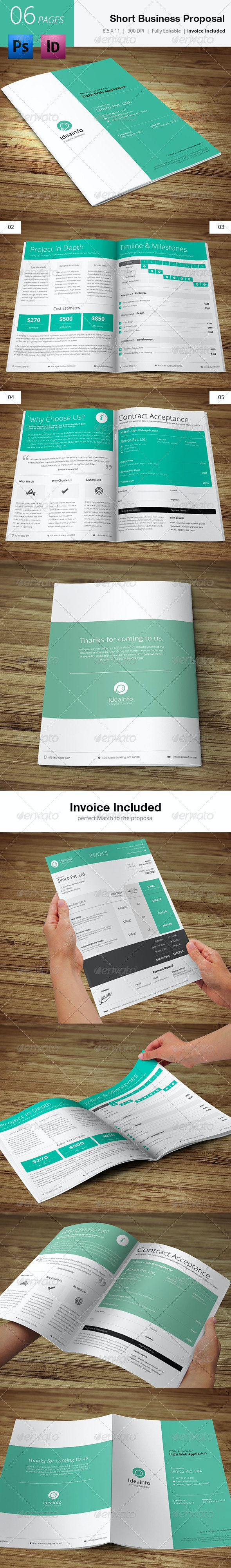 Short & Quick Business Proposal  - Proposals & Invoices Stationery
