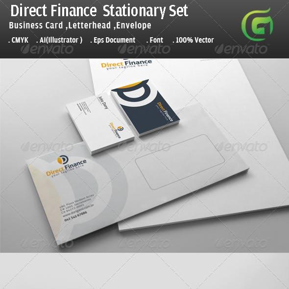 Direct Finance Stationary Design