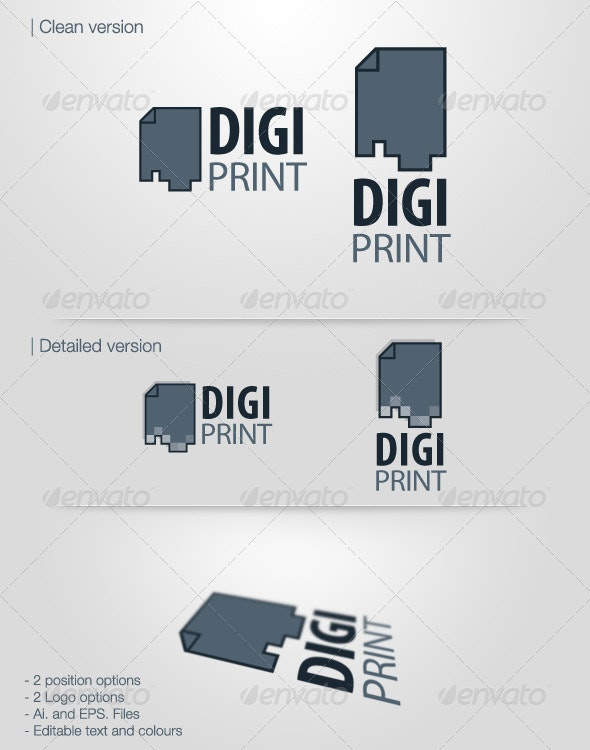Digiprint - Vector Logo - Objects Logo Templates