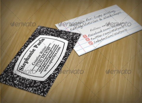 Composition Business Card Template - Creative Business Cards