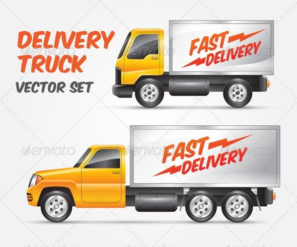 Vector Delivery Truck - Conceptual Vectors