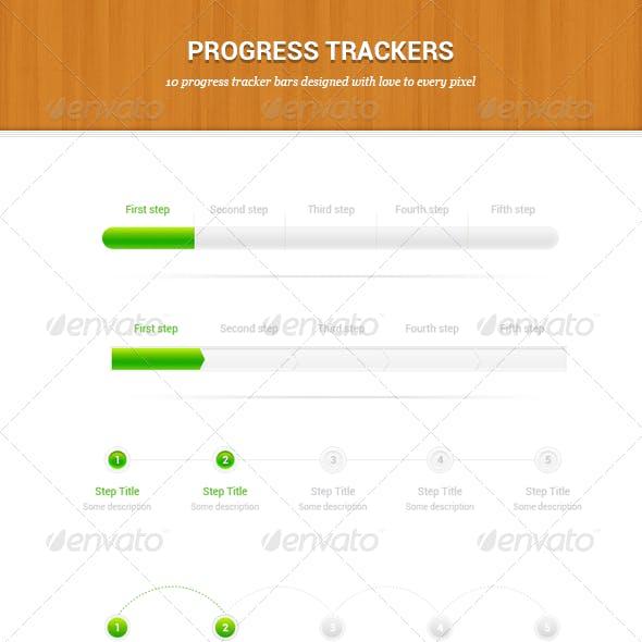 10 Higly Detailed Progress Tracker Bars