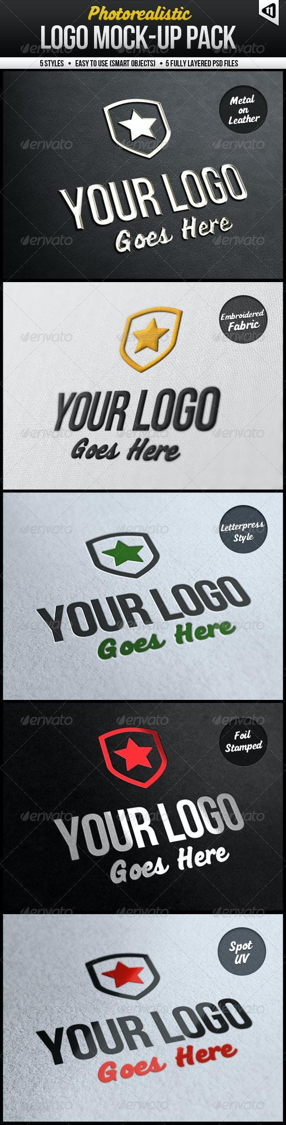 Photorealistic Logo Mock-Up Pack - Logo Product Mock-Ups