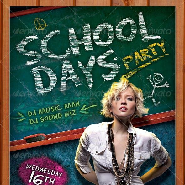 School Days Party Flyer