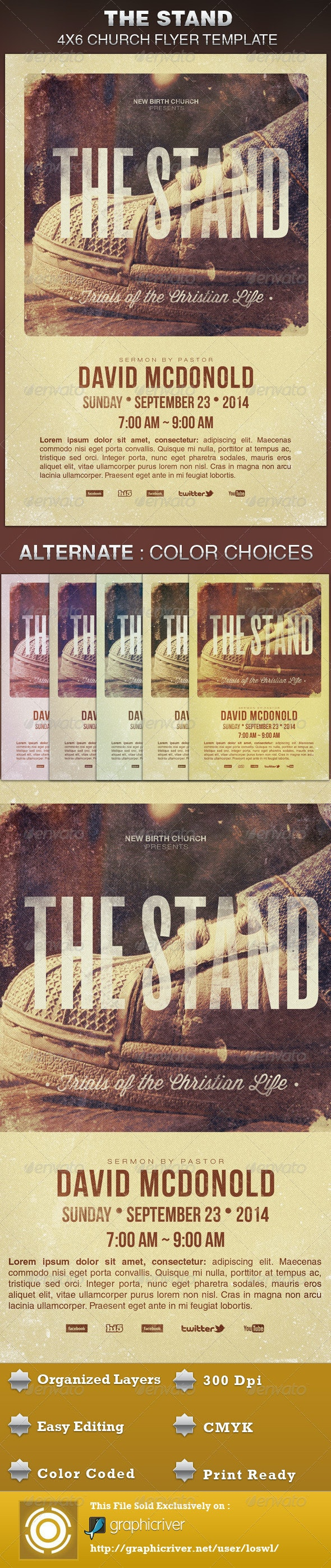 The Stand Church Flyer Template - Church Flyers