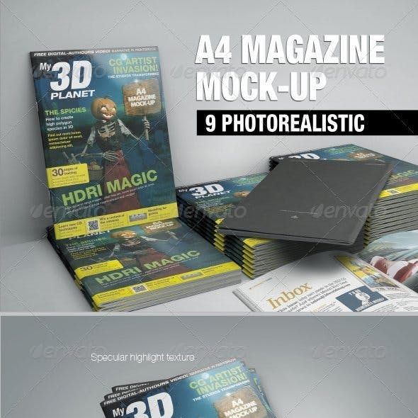 A4 Magazine Mock-up