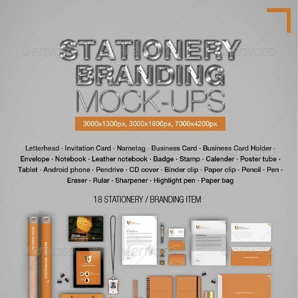 Stationery Branding Mock-ups