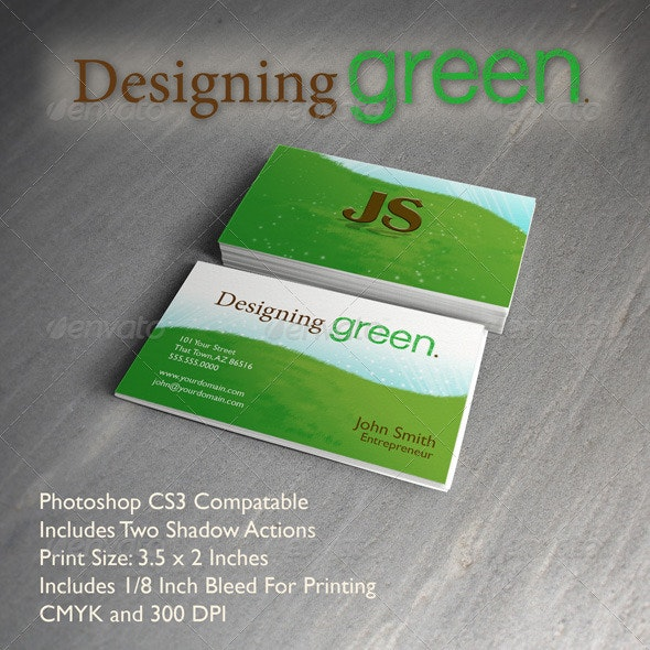 Designing Green Business Card Template - Creative Business Cards