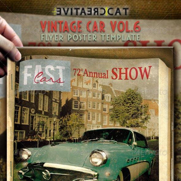 Vintage Car Flyer/Poster Vol. 6